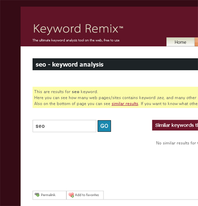 Keyword Remix Tool